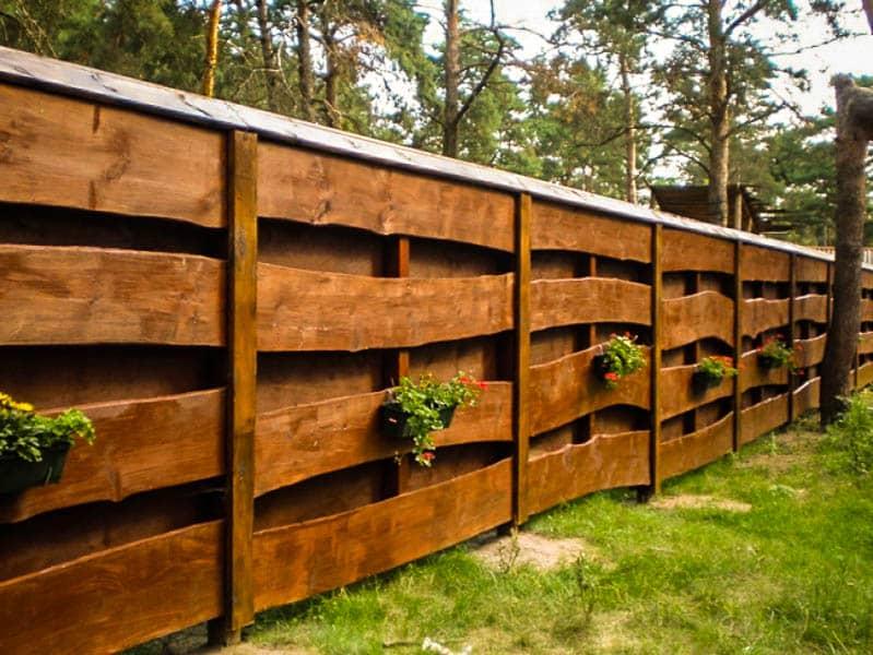 Деревянные заборы для дачи дешево